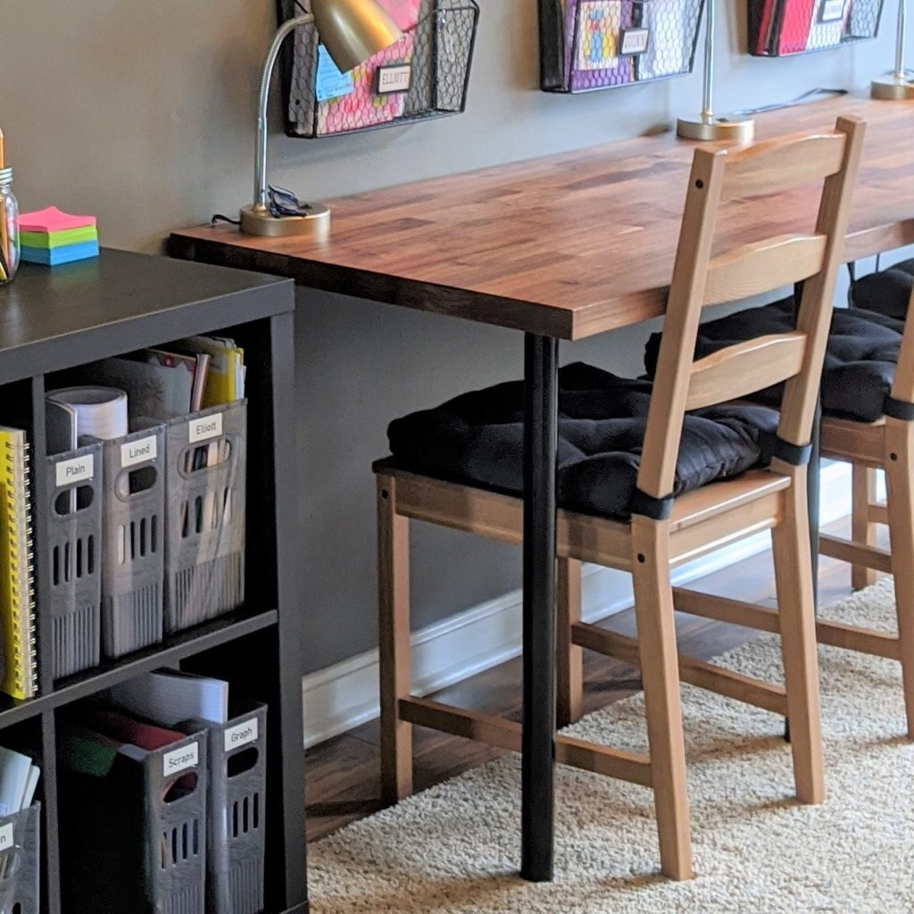Preparing for back to school? Set up a space to do homework!