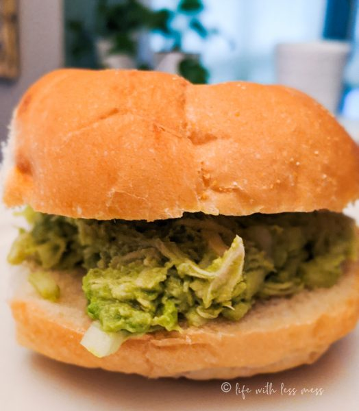We like our chicken and avocado on kaiser rolls.