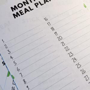 Create your own March Meal Plan with my free printable template.