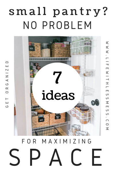 7 Ideas for maximizing space in a small pantry