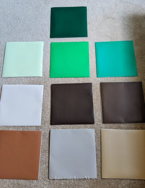 Making a Minecraft Wall with vinyl squares