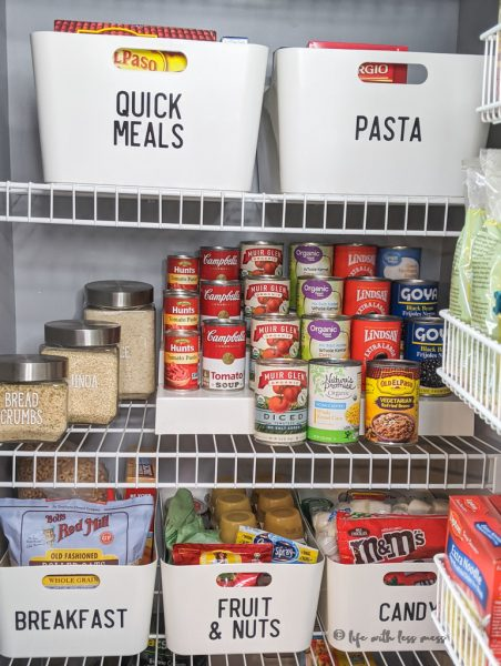 How I organized my small pantry.