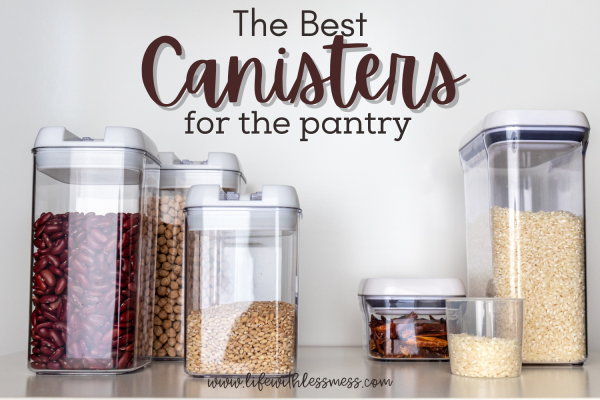 The best glass and plastic pantry canisters for all your foods.