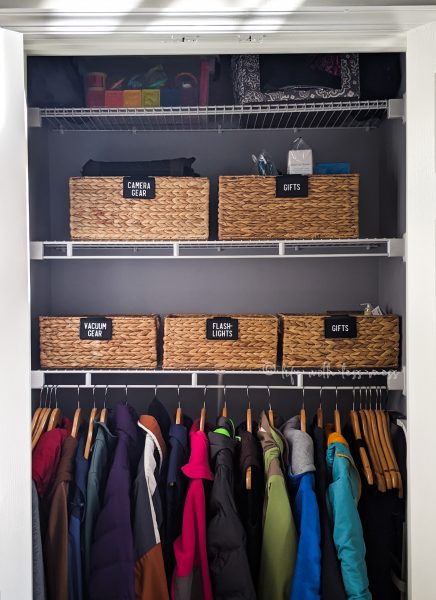 An organized coat closet is a great first impression for guests!