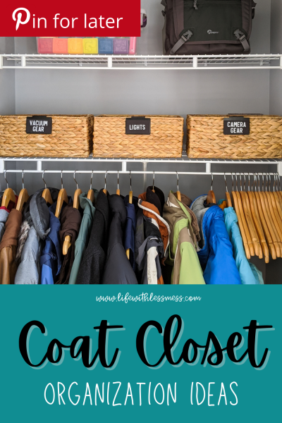 Coat closet organization can be a challenge, but this guide will help you maximize and organize every inch of your space!