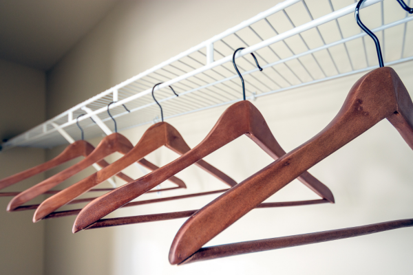 An empty closet is a great first step to organizing your coat closet.