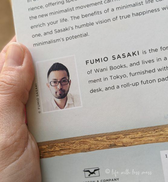 Fumia Sasaki, author of Goodbye, Things, is an extreme minimalist.