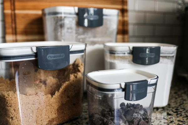 Progressive ProKeeper Canisters are great for storing baking ingredients.