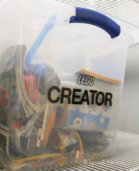 Organizing LEGO by line can also be helpful when you want to create a world instead of just a set.
