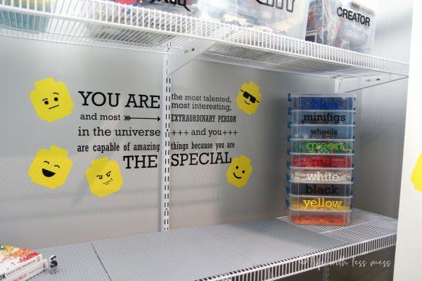 DIY LEGO Closet