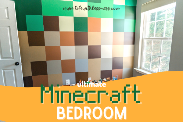 Take a Tour of this Can't-Miss Minecraft Bedroom with a DIY Minecraft wall