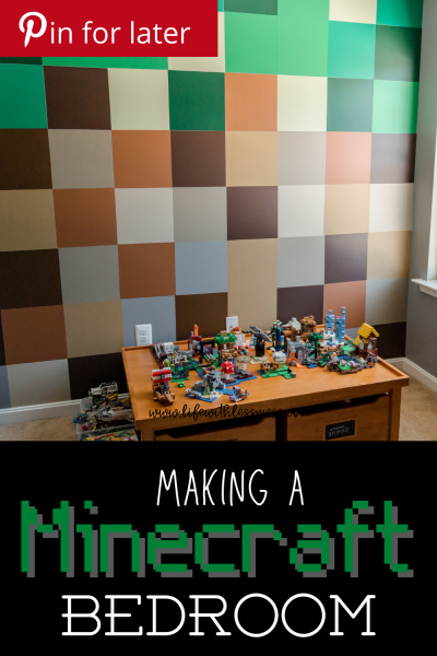 A Minecraft Bedroom Tour you won't want to miss. The quickest, cheapest way I could find to create a Minecraft wall and masterpiece.