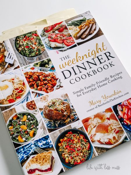 When I'm not feeling inspired to meal plan, I leaf through a cookbook and quickly get ideas!