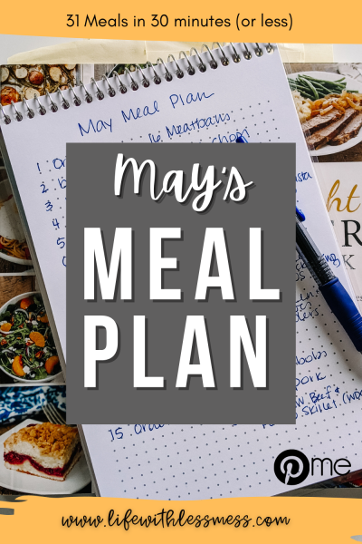 Once you start creating a monthly meal plan, you'll never want to stop!