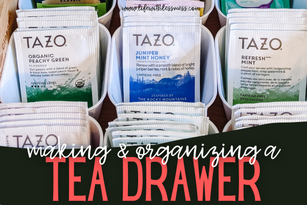 Tea drawer organization has never looked so good!