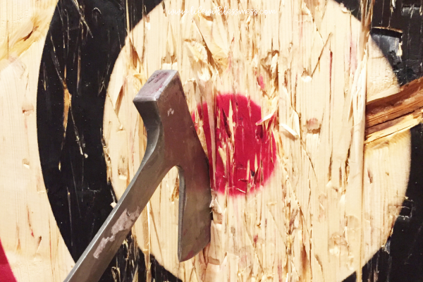 thoughtful gifts for dad - ax throwing