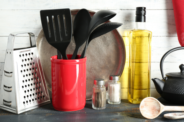 Having too many items, even useful items, on your kitchen counter adds to visual clutter.