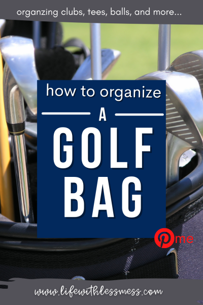 How to organize a golf bag and how to arrange clubs in a golf bag