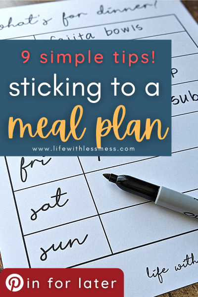 9 simple tips for sticking to a meal plan to make your night simpler