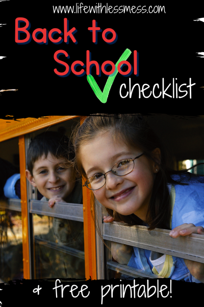 It's back to school time! What's on your to do list?