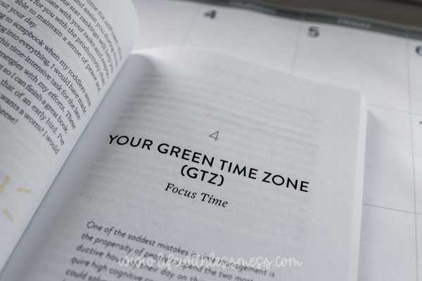 Tyree breaks timing and tasks into three zones: Green, Yellow, and Red.