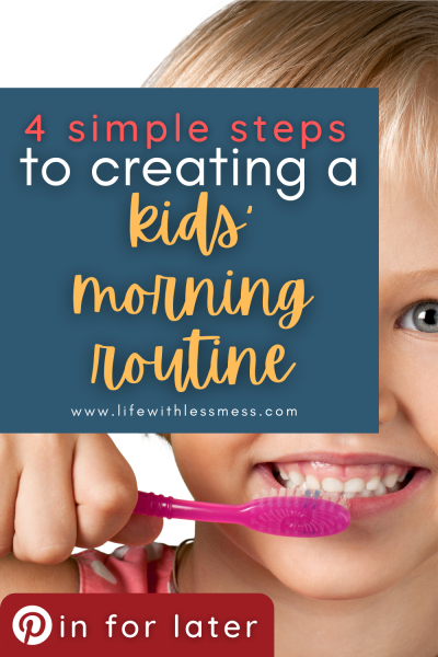 Everything you need to know about implementing a kids' morning routine into your life! Free Printables.
