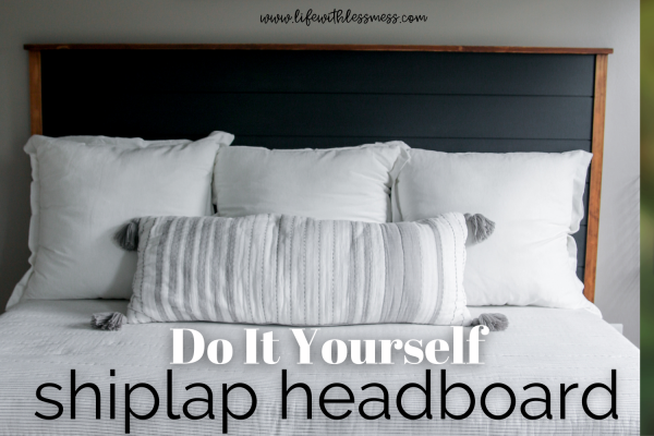 DIY Shiplap Headboard for a daybed