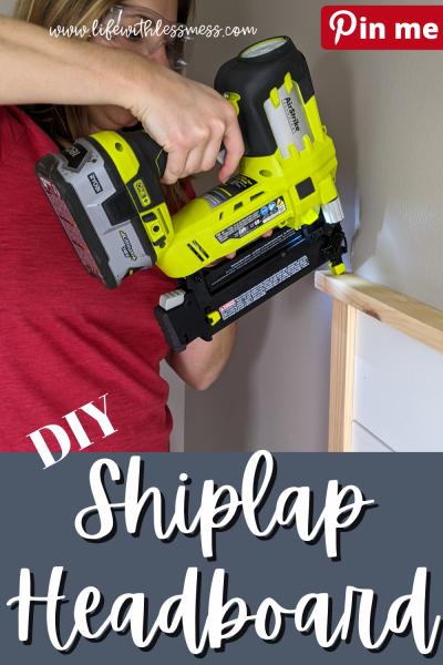 DIY Shiplap Headboard