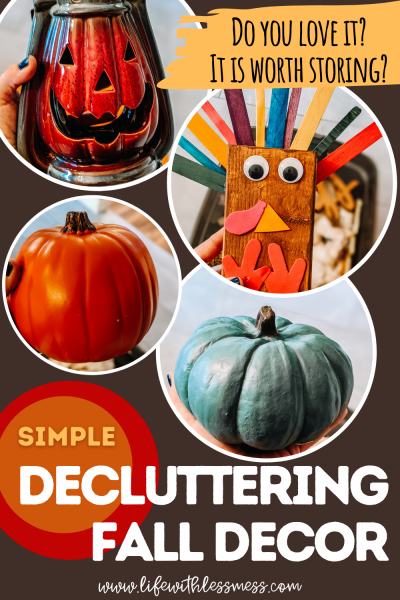 Make decluttering fall decor an annual tradition in your home!