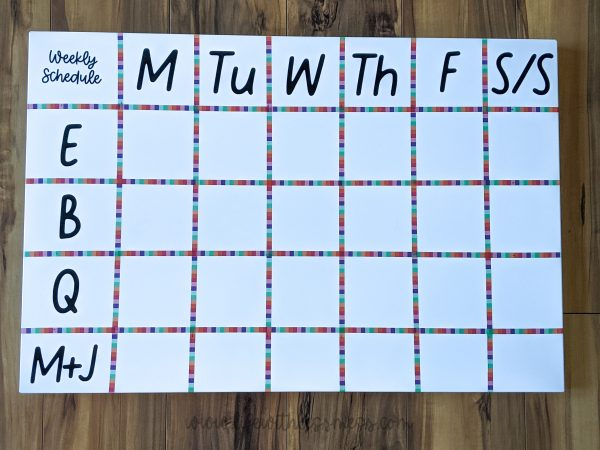 DIY Family Schedule Board